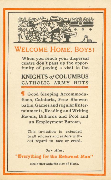 Knights of Columbus Catholic Army Huts Front
