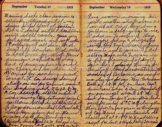 Maharg diary, page 106.
