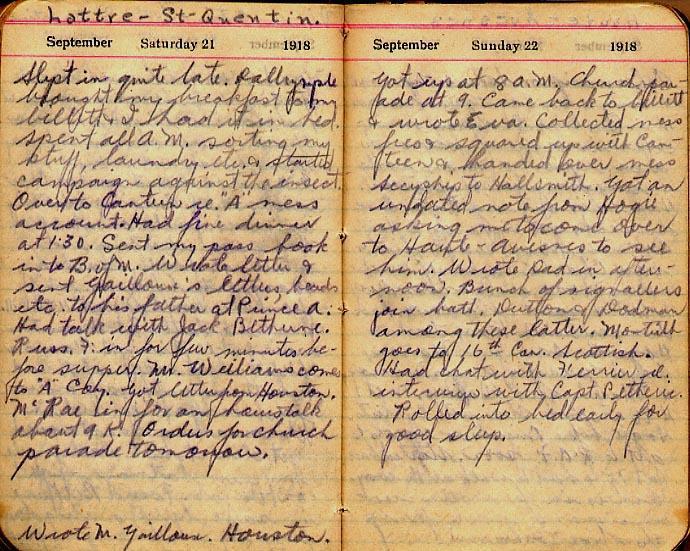 Maharg diary, page 108.