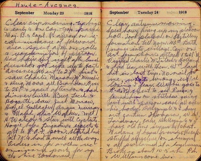 Maharg diary, page 109.