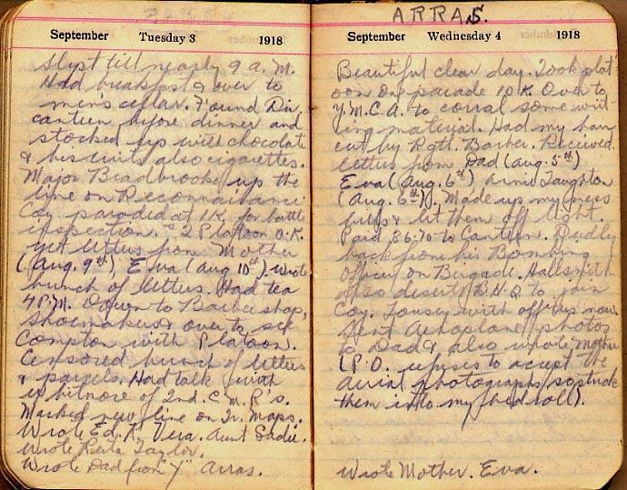 Maharg diary, page 99.