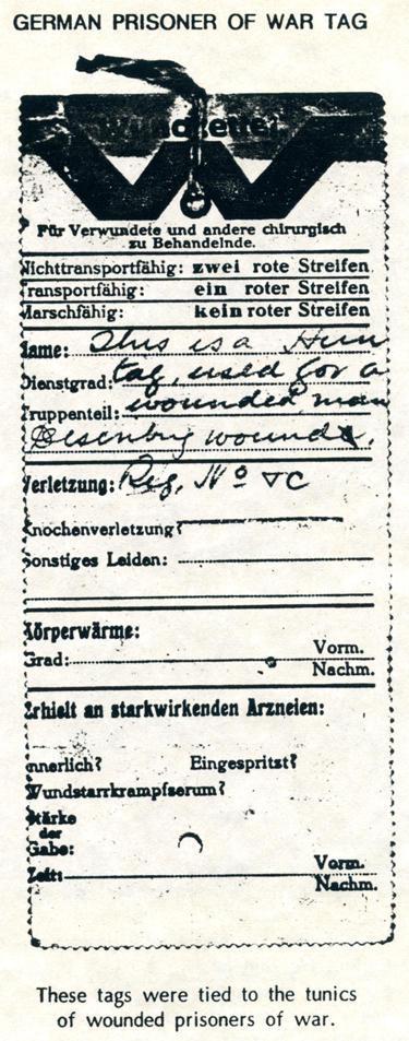 German POW tag, nd
