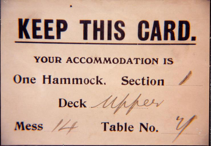 Ship ticket, n.d