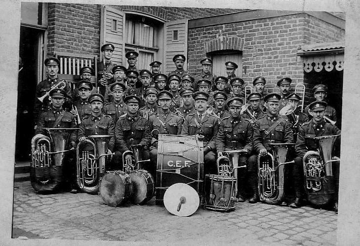 Photo, 20th Battalion Band, front.