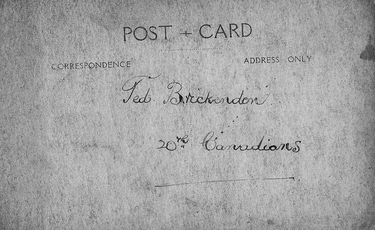 Photo, Ted Brickenden, back.