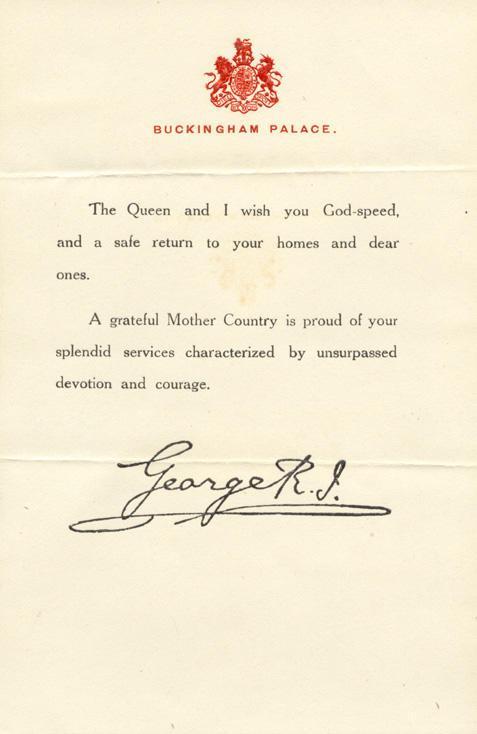 A Royal Thank-you
