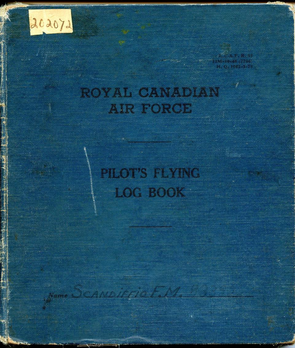 Francis Scandiffio, Pilot Logbook, Book Cover