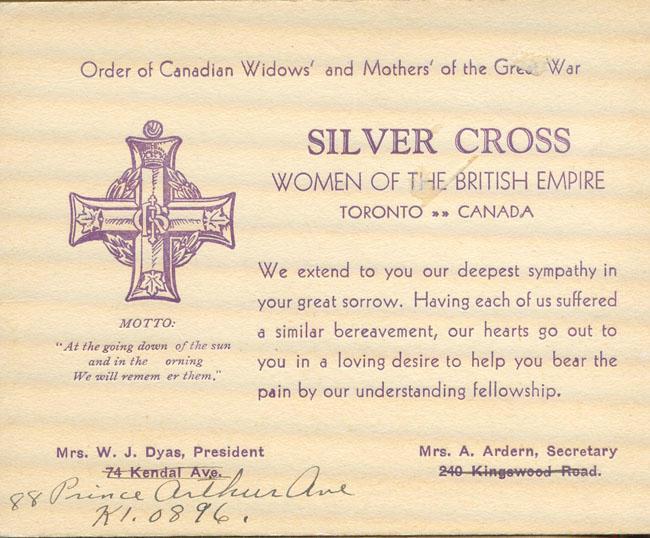 Silver Cross Card
