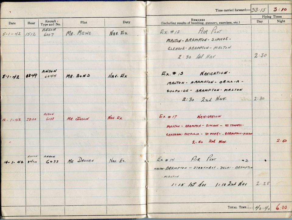 Thomas Scandiffio, Gunner Logbook, p.6