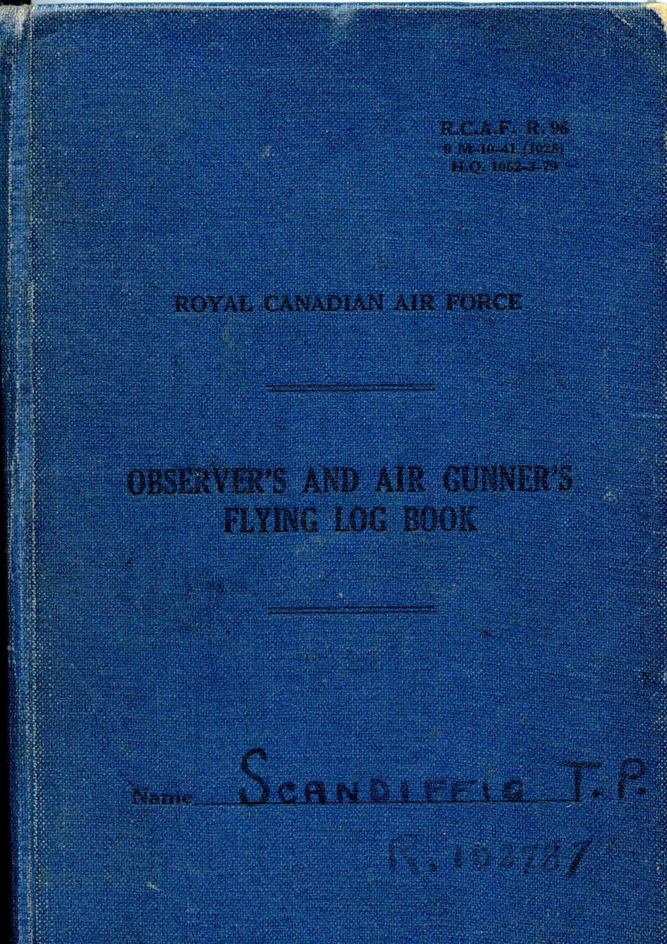 Thomas Scandiffio, Gunner Logbook, cover