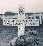William Douglas Watson, original grave marker