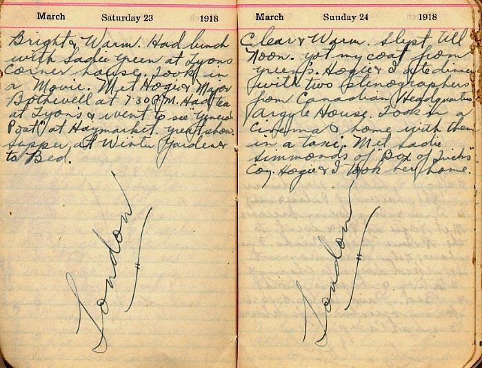 Maharg diary, page 18.