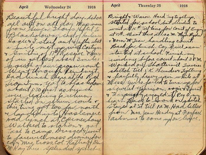 Maharg diary, page 33.