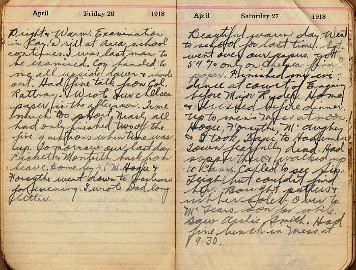 Maharg diary, page 34.