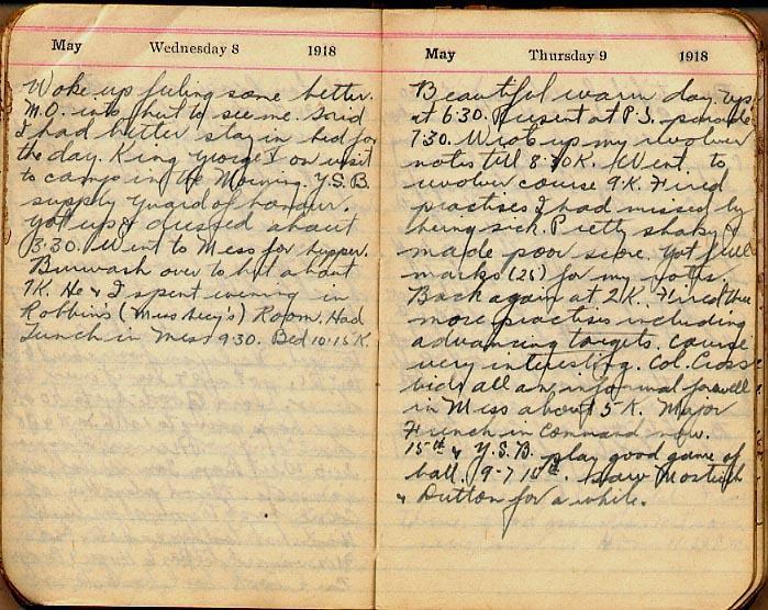 Maharg diary, page 40.
