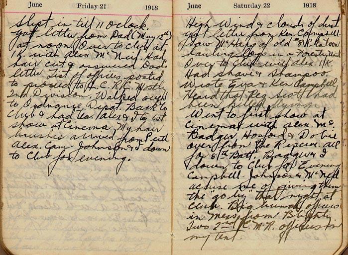 Maharg diary, page 62.