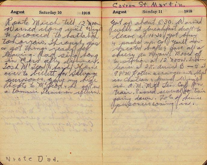 Maharg diary, page 87.