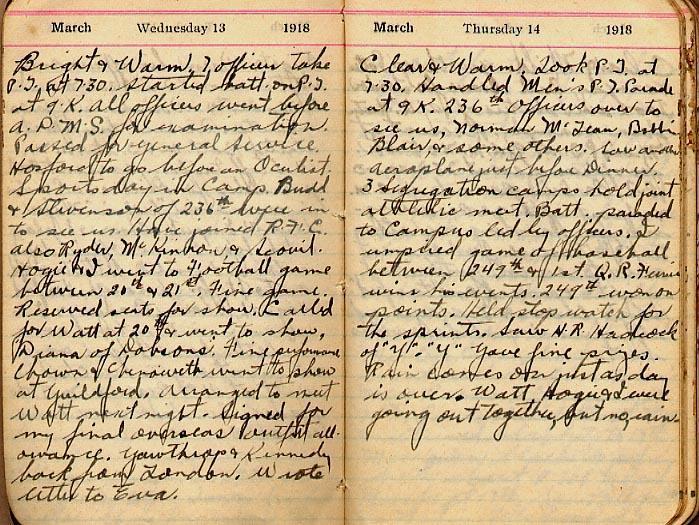 Maharg diary, page 13.