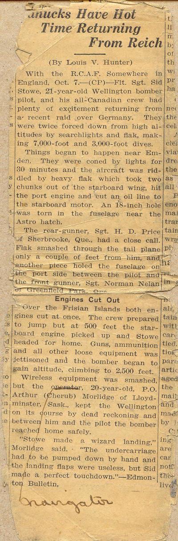 Morlidge Clipping 1942