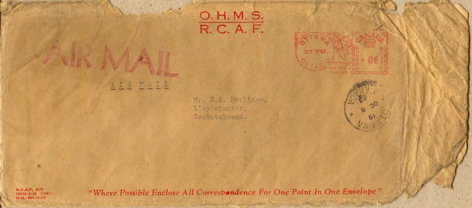 Morlidge Envelope - October 7, 1942