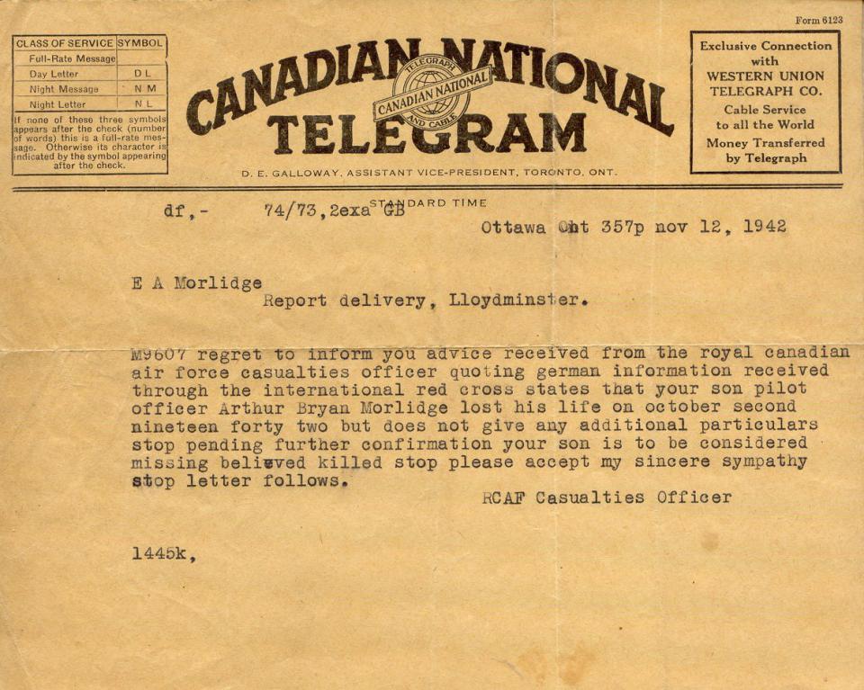Morlidge Telegram - November 12 1942