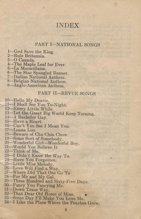 William Daniel Boon. Canadian Soldiers Songbook. Page 3.
