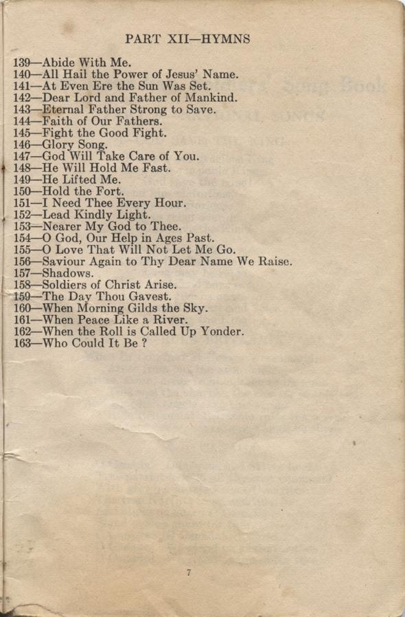 William Daniel Boon. Canadian Soldiers Songbook. Page 7.
