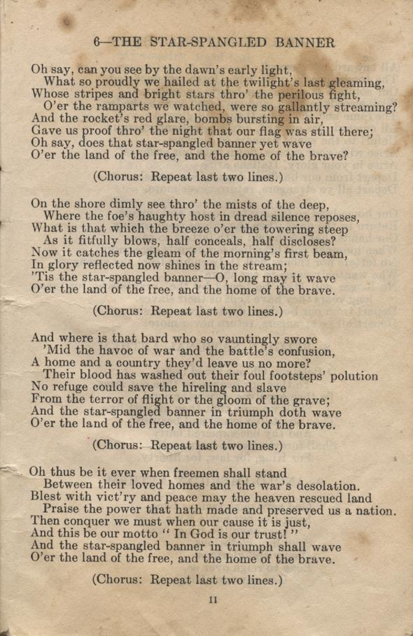 William Daniel Boon. Canadian Soldiers Songbook. Page 11.