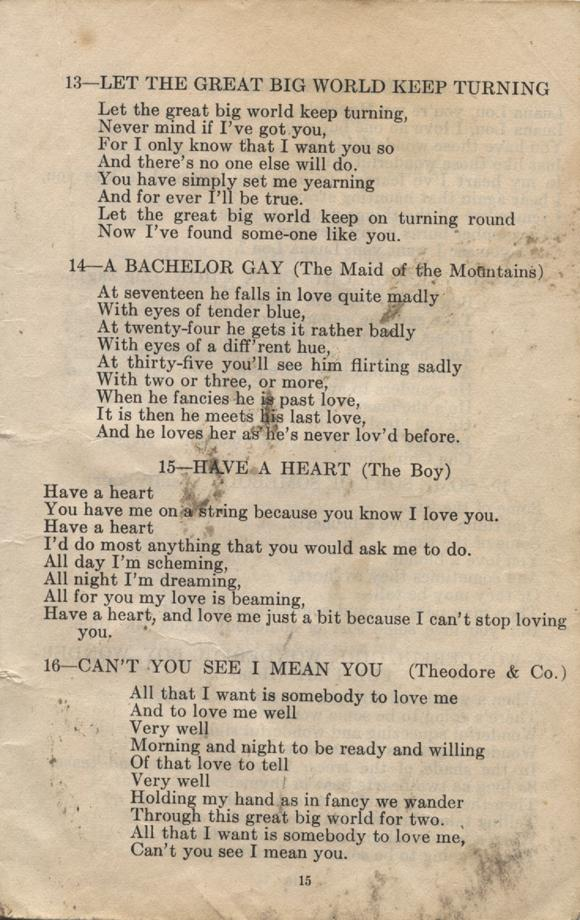 William Daniel Boon. Canadian Soldiers Songbook. Page 15.