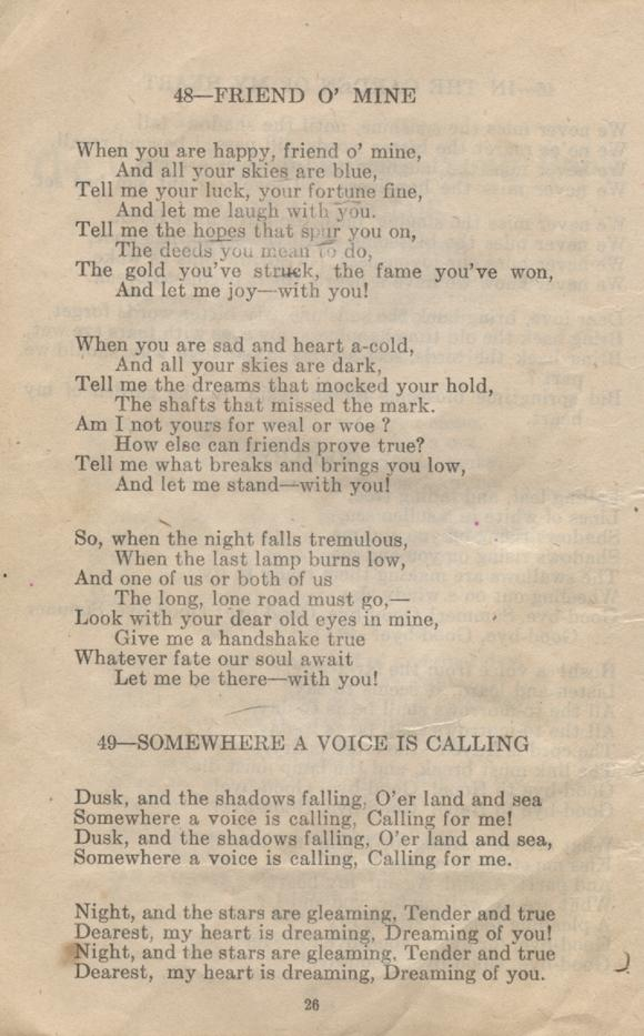 William Daniel Boon. Canadian Soldiers Songbook. Page 26.