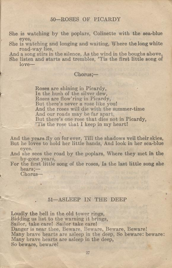 William Daniel Boon. Canadian Soldiers Songbook. Page 27.