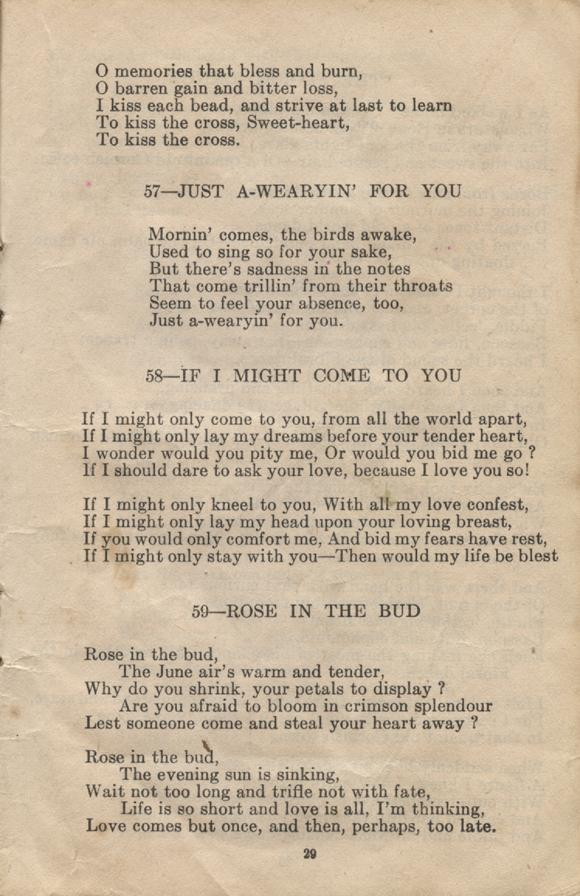 William Daniel Boon. Canadian Soldiers Songbook. Page 29.