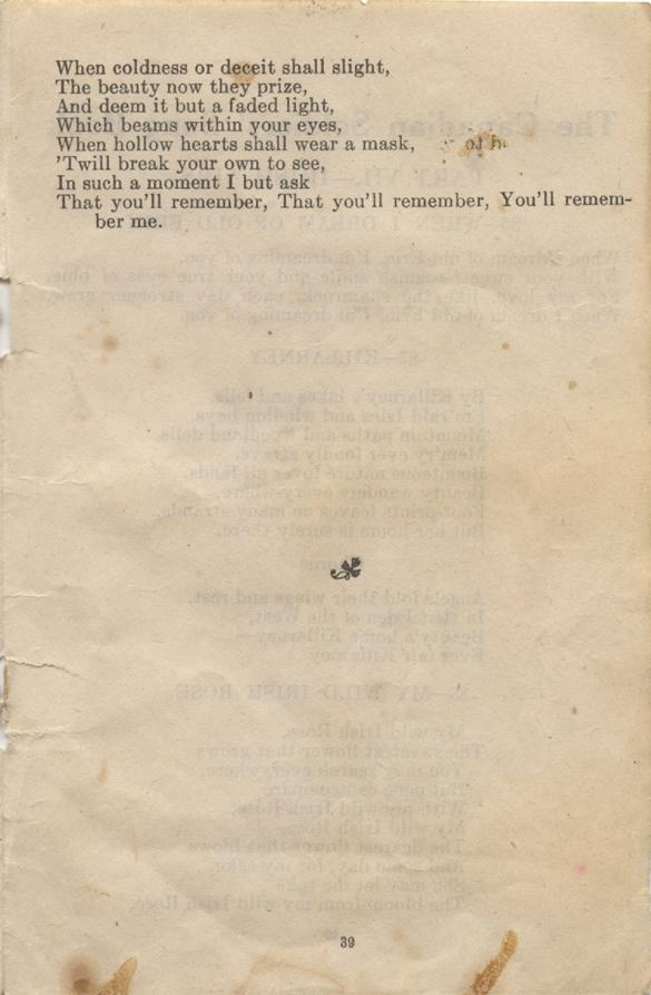William Daniel Boon. Canadian Soldiers Songbook. Page 39.