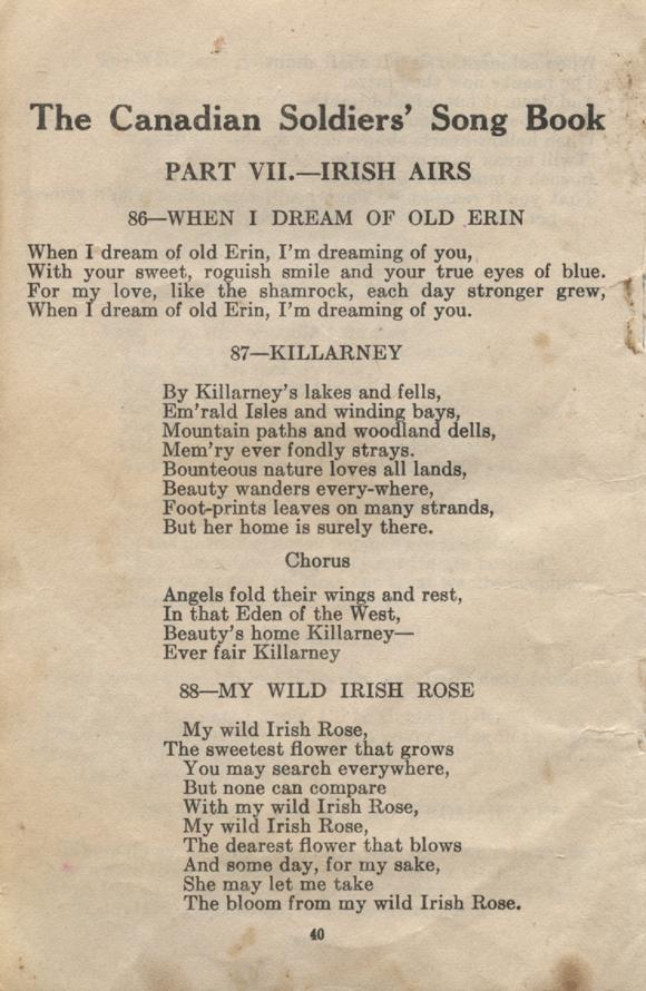 William Daniel Boon. Canadian Soldiers Songbook. Page 40.