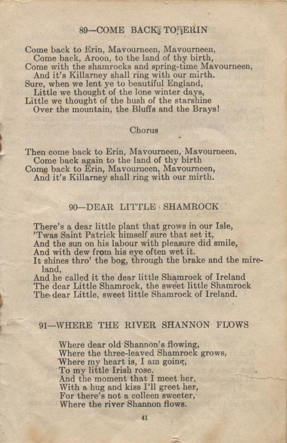 William Daniel Boon. Canadian Soldiers Songbook. Page 41.