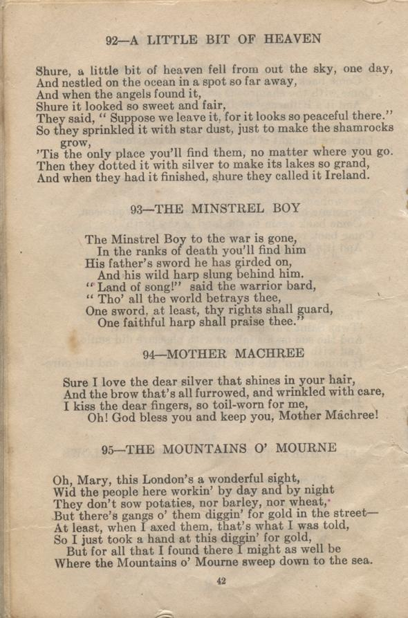 William Daniel Boon. Canadian Soldiers Songbook. Page 42.