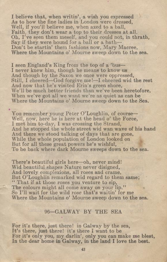William Daniel Boon. Canadian Soldiers Songbook. Page 43.
