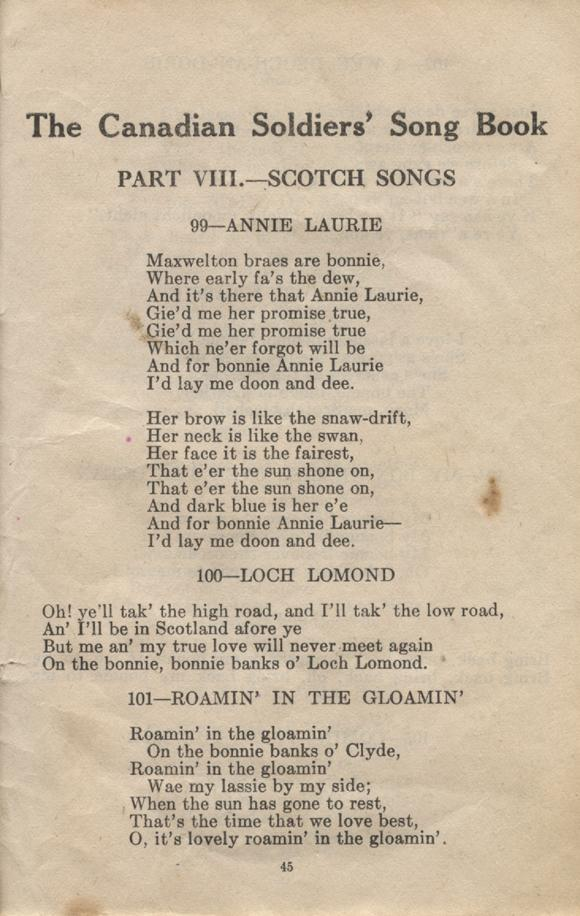 William Daniel Boon. Canadian Soldiers Songbook. Page 45.