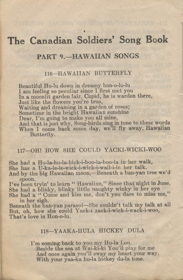 William Daniel Boon. Canadian Soldiers Songbook. Page 50.