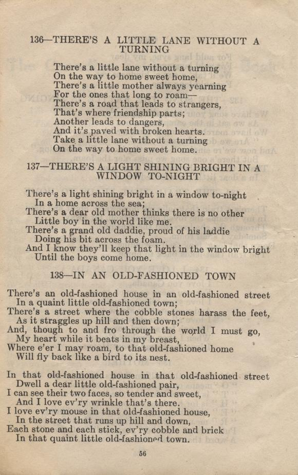William Daniel Boon. Canadian Soldiers Songbook. Page 56.