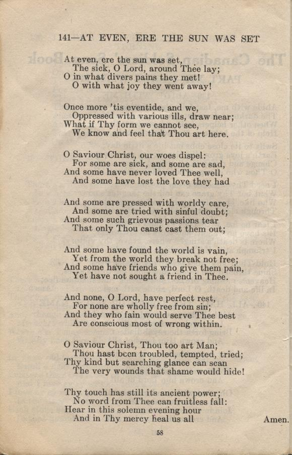 William Daniel Boon. Canadian Soldiers Songbook. Page 58.