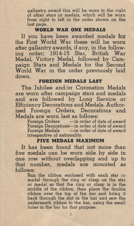 William Daniel Boon. Medal Booklet. Page 6.