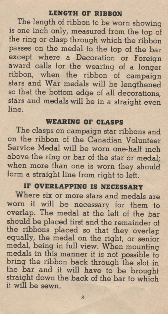 William Daniel Boon. Medal Booklet. Page 7.