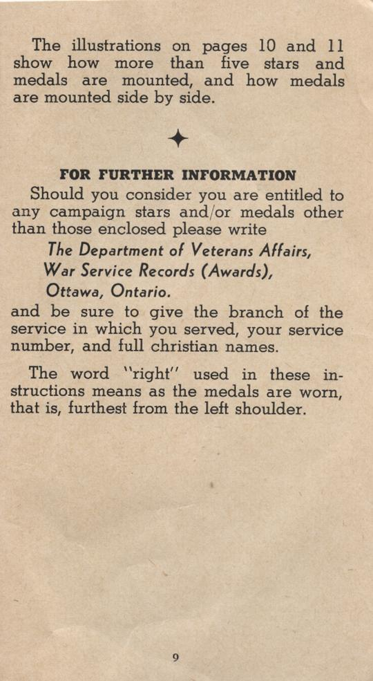 William Daniel Boon. Medal Booklet. Page 8.