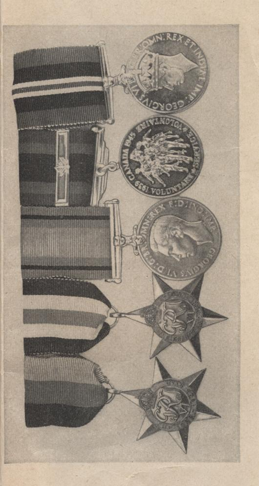 William Daniel Boon. Medal Booklet. Page 10.