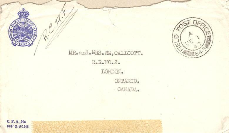 Envelope - December 1, 1943