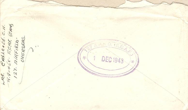 Evelope - December 1, 1943 - 2