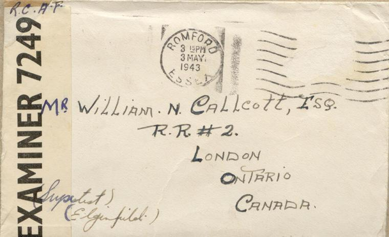 Envelope - May 3, 1943
