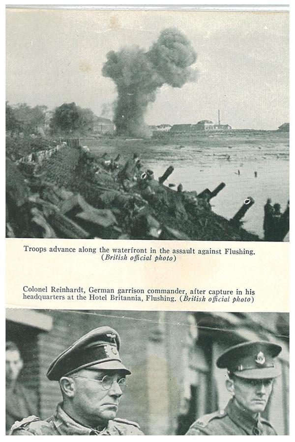 Troops advance along the waterfront