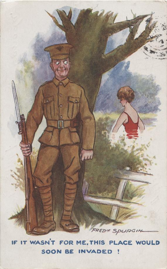 Cartoon Postcard, front